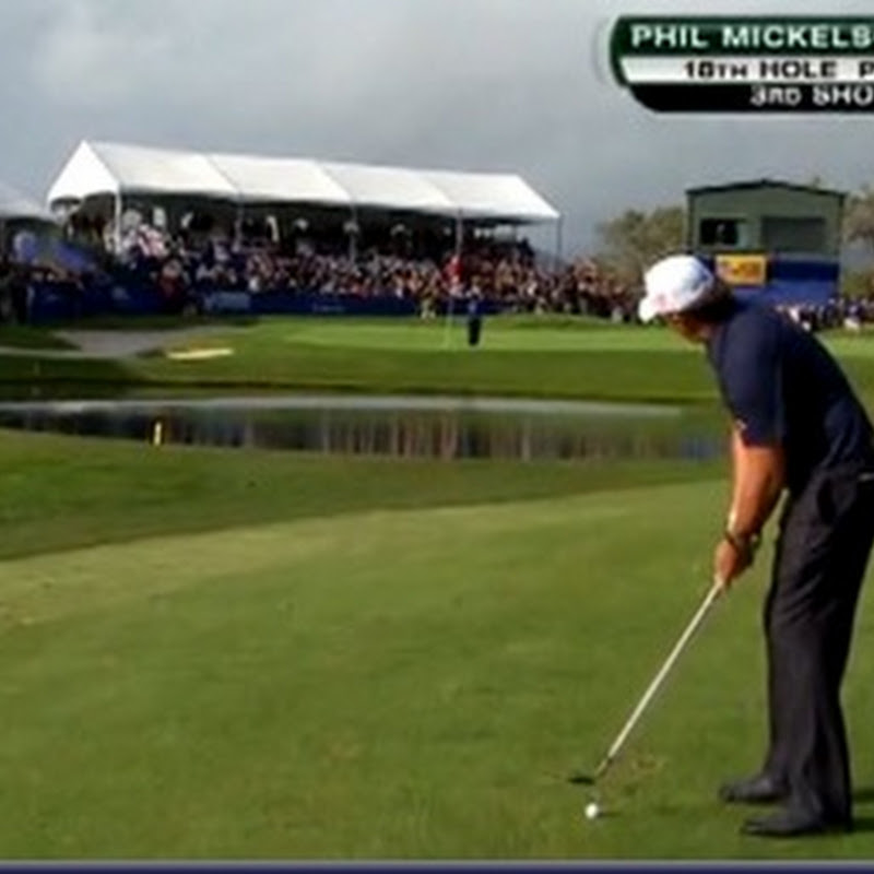 Shot Of The Weekend: Phil Mickelson Has Pin Tended For Career Pitch Attempt
