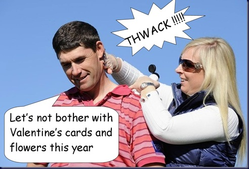 Padraig and Caroline Harrington Funny Pic