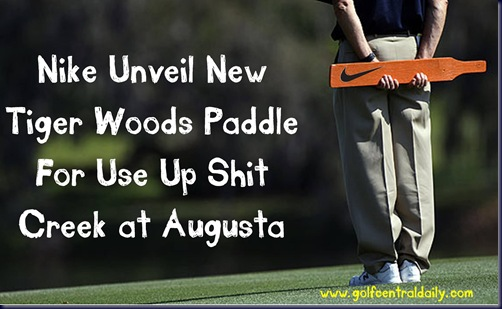 tiger woods funny nike paddle pic