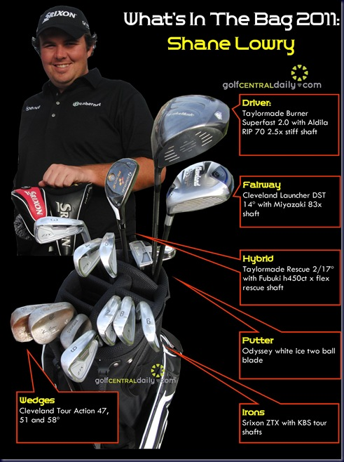 whats in the bag Shane Lowry 2011