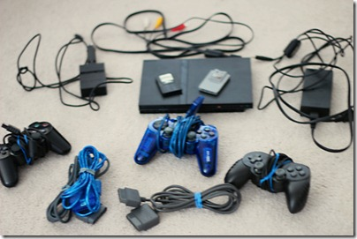 PS2 Console & Controllers
