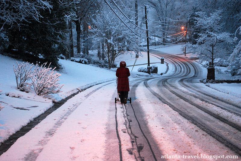 Снег в Атланте