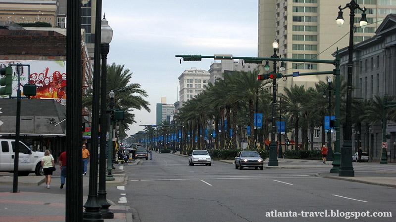 Новый Орлеан: улицы, трамваи, набережная и пароход