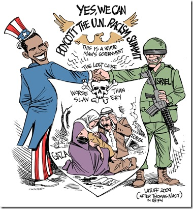 Obama_boycotts_racism_summit_by_Latuff