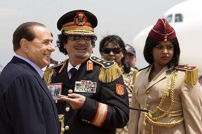 Mohamar khadaffi berlusconi