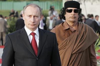 Mohamar khadaffi putin