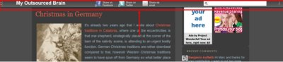 Apture toolbar on myoutsourcedbrain.com