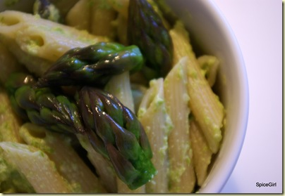 asparagus penne 5-20-09