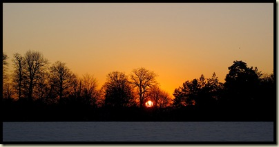 Sunset from Dunham Massey