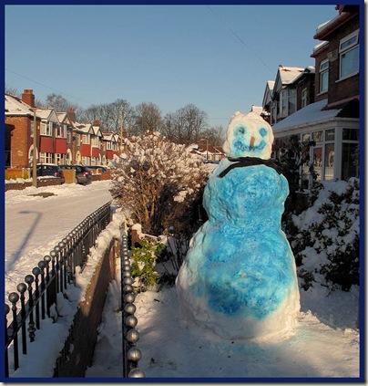 The Blue Snowman