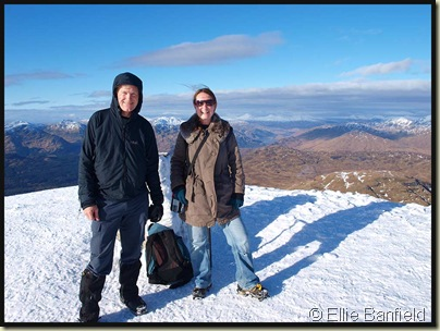 On the summit of Ben Lomond