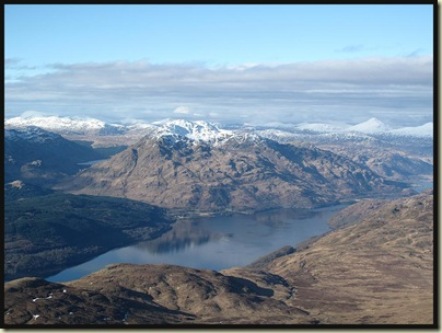 A view from the summit of Loch Lomond
