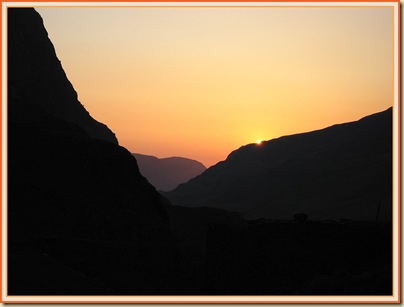Sunset from Honister Pass - 6 June 2007