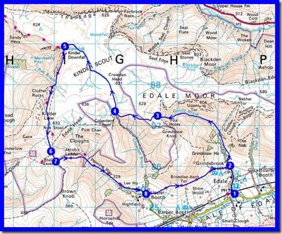 Our route - 15.5 km, 623 metres ascent, 5.5 hours including 45 mins stops (Naismith 4 hrs 8 min)