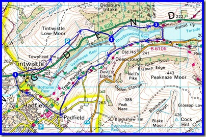 Our 10 km route, with 315 metres ascent, taking under 2.5 hours