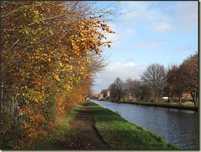 The Bridgewater Canal in Timperley on 20 November 2009