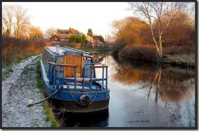 A barge near the Bay Malton