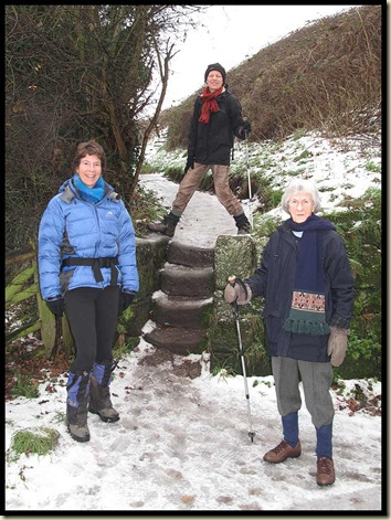 Descending these steps in the ice was trickier than it looks!