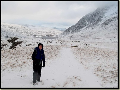 Looking back from the approach to Y Garn's NE ridge