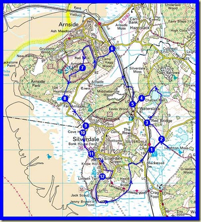 Our route - 17 km, 340 metres ascent, 5 hours