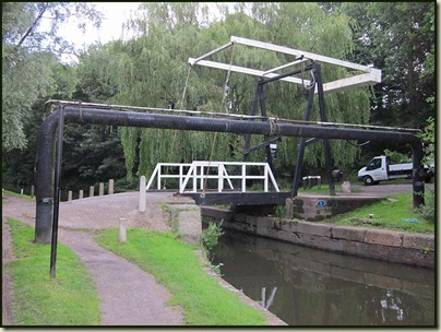 A lift bridge on the Peak Forest Canal