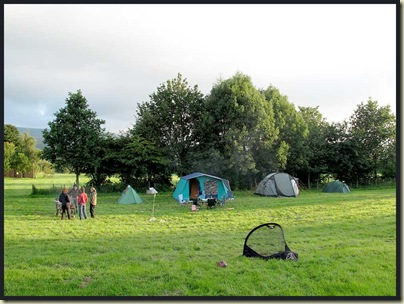 The private camp site at Redmire