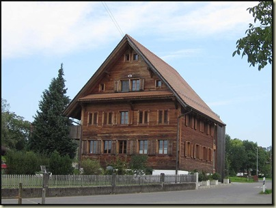 A wooden house at Niederroil