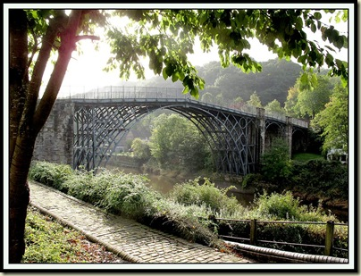 Ironbridge, built in 1779 by Abraham Darby; cost £6000