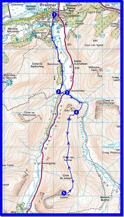 Our route - 18km, 650 metres ascent, 6.5 hours