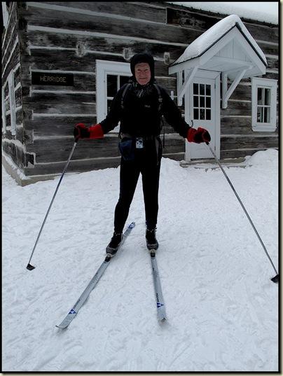 Martin outside Herridge Cabin