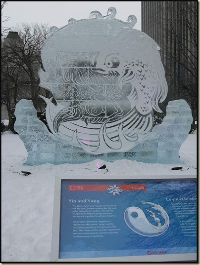 Yin and Yang - an ice sculpture
