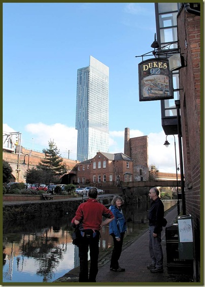 Manchester's tallest building - The Beetham Tower, with Dukes 92