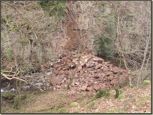 Landslip in the Dane valley