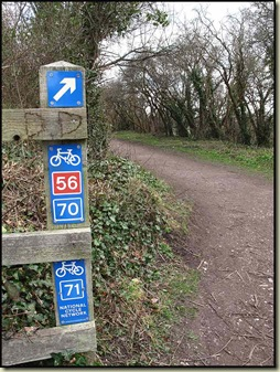 Modern day cycle way signs