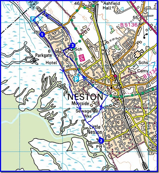 Our route - 8 km, 60 metres ascent, 2.7 hours including stops