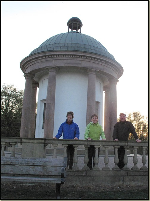 The Temple in Heaton Park, with Sue, Sheila and Alan