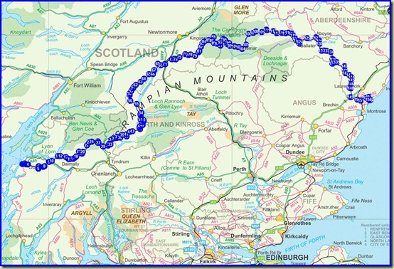 Our TGOC 2011 route - 365km (227 miles) with 16,300 metres ascent