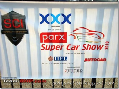 banner super car show 2010 parx xxx energy drinks mumbai india
