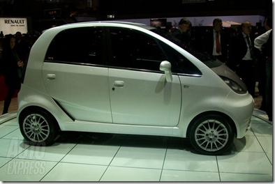 tata nano ev launch geneva white 2010 india