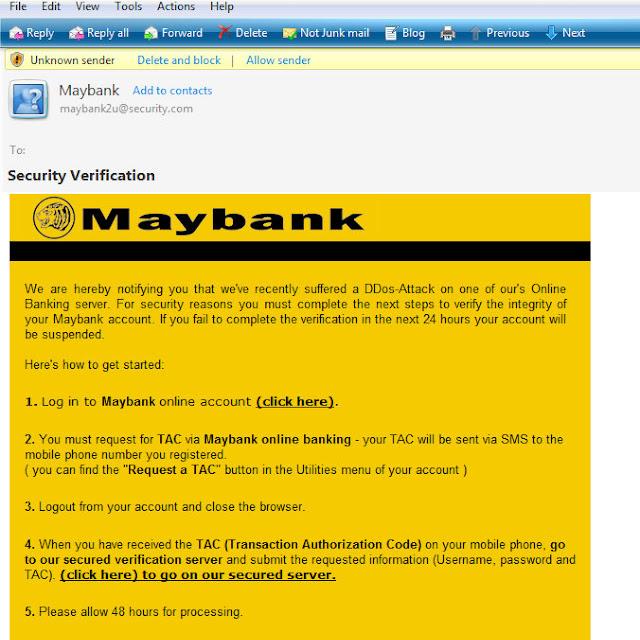 Maybank S Fraud Email Tianchad Capture Precious Moments