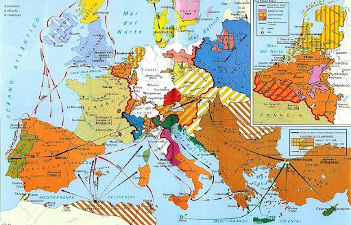 Mapa   Europa a Principios del Siglo XVI