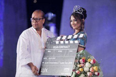 Mehazabien Lux Channel i Super Star contract with a film