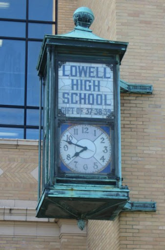 Clock at Lowell High School