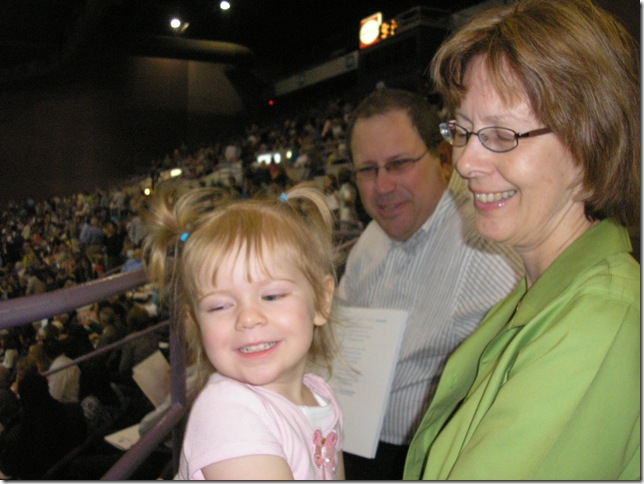 Kailtyn (2 years), Opa, and Oma at Robert's Graduation from UWF