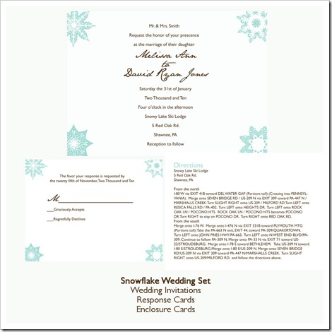 Little Ladybug Designs can design wedding stationery to match your winter