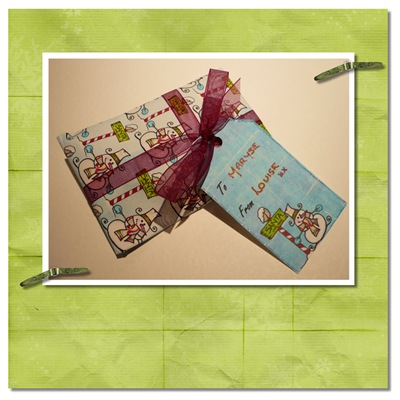 wrappingpaper and tag