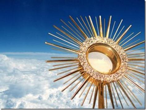 jesus eucaristico e céu