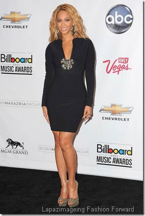 Singer Beyonce poses in the press room at the 2011 Billboard Mus