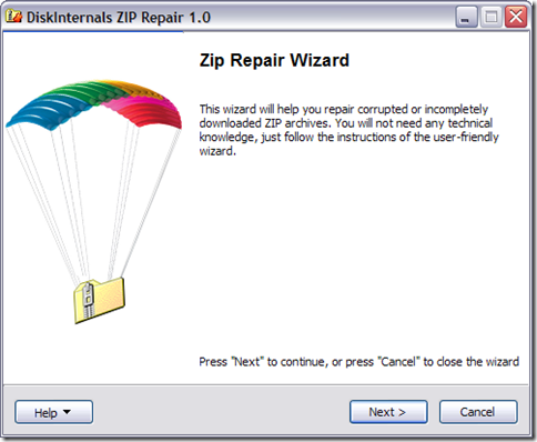 DiskInternals ZIP Repair 01