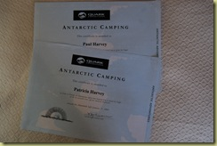 Camping Certificate
